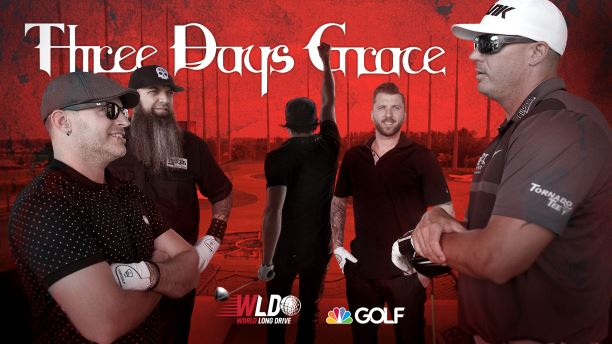 Three Days Grace vs. World Long Drive competitor